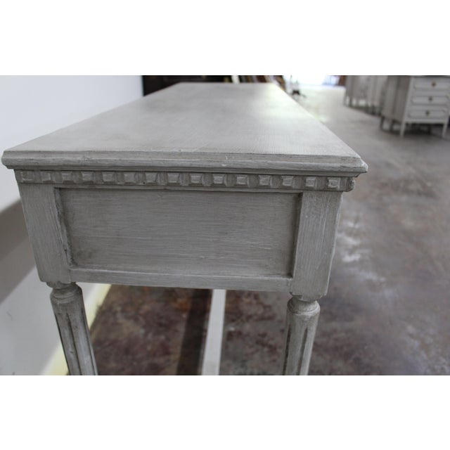 Mid-Century Modern 20th Century Vintage Swedish Gustavian Style Console Table For Sale - Image 3 of 8
