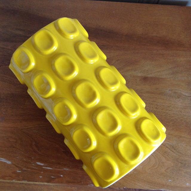 Modern Yellow Ceramic Vase - Image 4 of 10