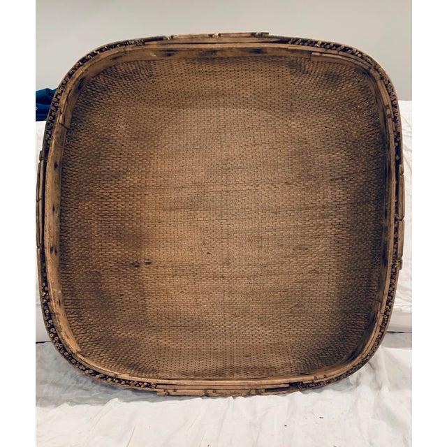 Vintage Asian Market Basket For Sale - Image 9 of 9