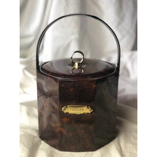 20th Century Hollywood Regency Georges Briard Tortoiseshell Engraved Ice Bucket Preview