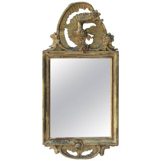 Petite Antique Giltwood Mirror For Sale