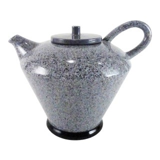 1980s Baldelli Italian Speckle Glaze Teapot For Sale