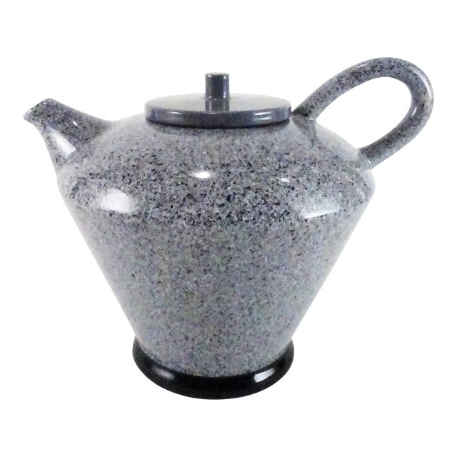 1980s Baldelli Italian Speckle Glaze Teapot For Sale
