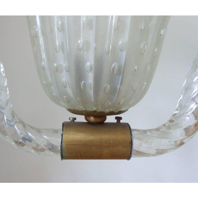 Ercole Barovier Mid 20th Century Pulegoso Pendant by Ercole Barovier For Sale - Image 4 of 8