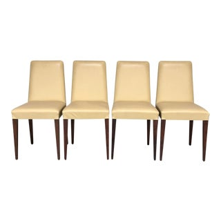 Ceccotti Collezioni 'Classic Chair Alta' Leather Dining Chair by Robert Lazzeroni - Set of 4 For Sale