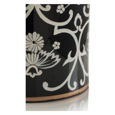 John Richard Floral Black & White Jar - Image 2 of 4