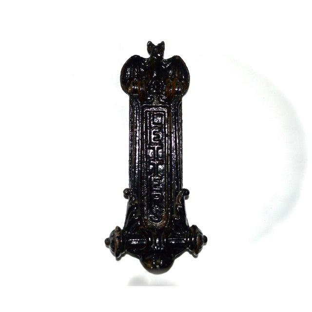 Gothic Kenrick Bat Door Knocker & Letter Slot For Sale - Image 3 of 11