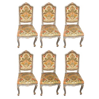Set of Six French Antique Louis XV Dining Room Chairs