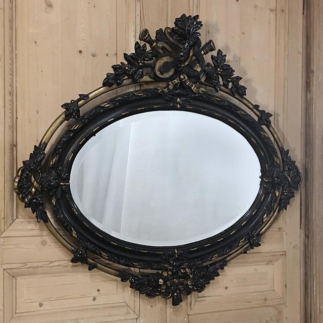 Antique French 19th Century Louis XVI Oval Mirror For Sale - Image 11 of 11
