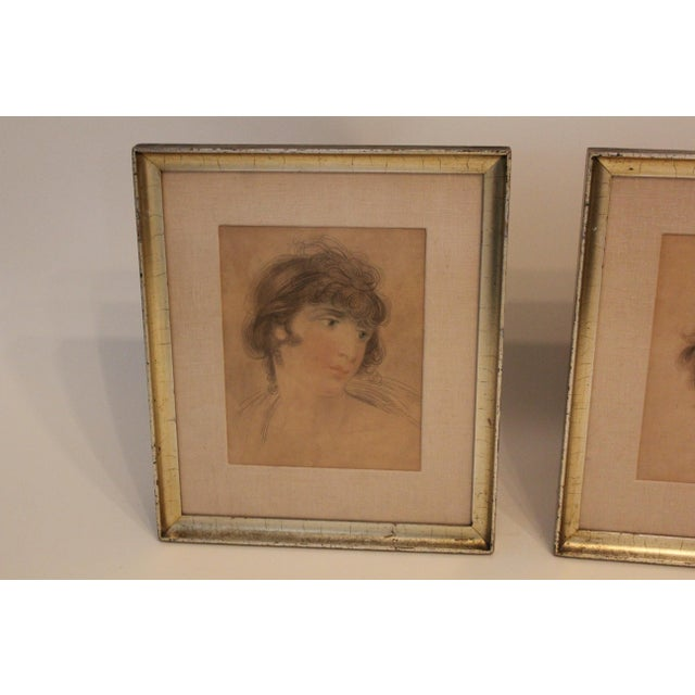 English Classical After Lawrence Portraits Paintings - Set of 2 For Sale - Image 4 of 6