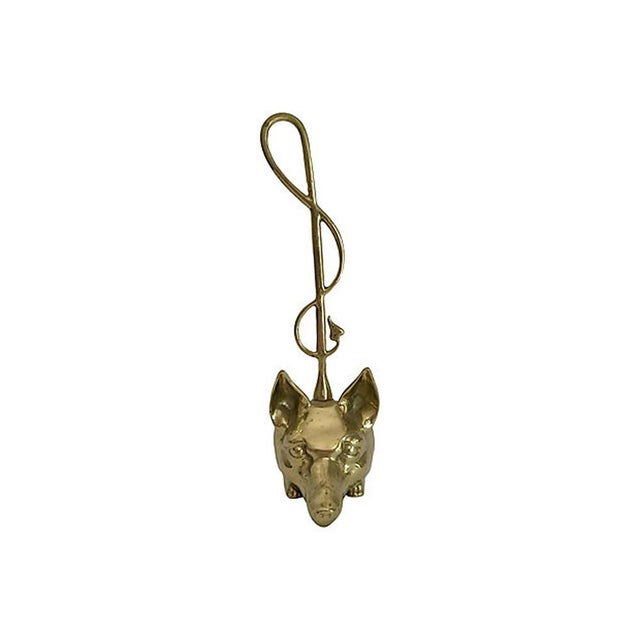 Unique heavy solid brass fox doorstop. Great foot and tail detail add an extra touch of whimsy.