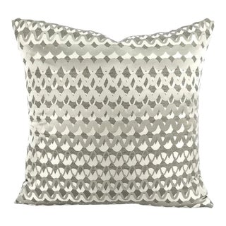Kravet Couture Ripple Effect Pillow Cover For Sale