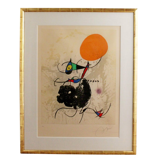 Modern Miro Terre Atteinte Et Soleil Intact Color Etching Aquatint 16/50 COA '73 For Sale - Image 9 of 9