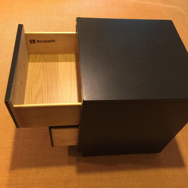 1970s 1970s Campaign Bernhardt Black Side Table For Sale - Image 5 of 8