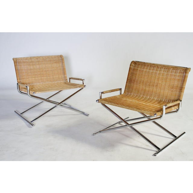 Chrome Ward Bennett Brickel Sled Chairs For Sale - Image 8 of 11