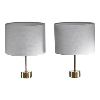 Pair of Asea Brass Table Lamps, Sweden, 1960s For Sale