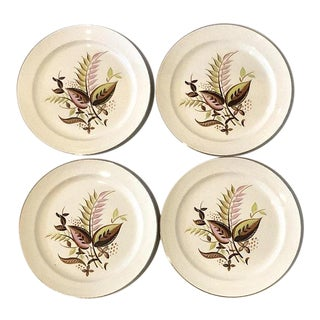 Taylor Smith Mid-Century Modern Dinner Plates, Set of 4