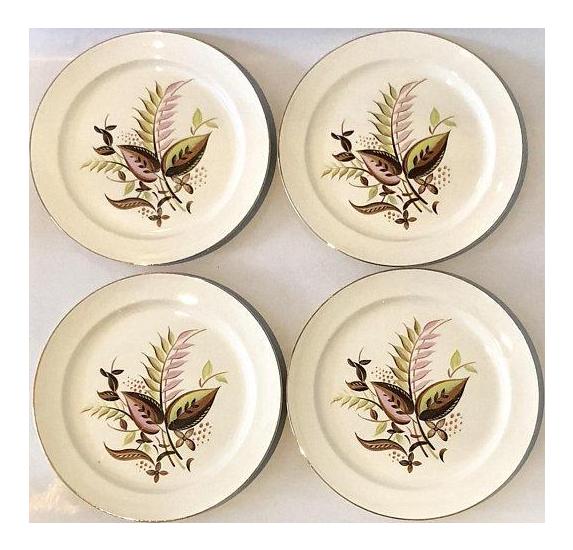 sc 1 st  Chairish & Taylor Smith Mid-Century Modern Dinner Plates Set of 4 | Chairish