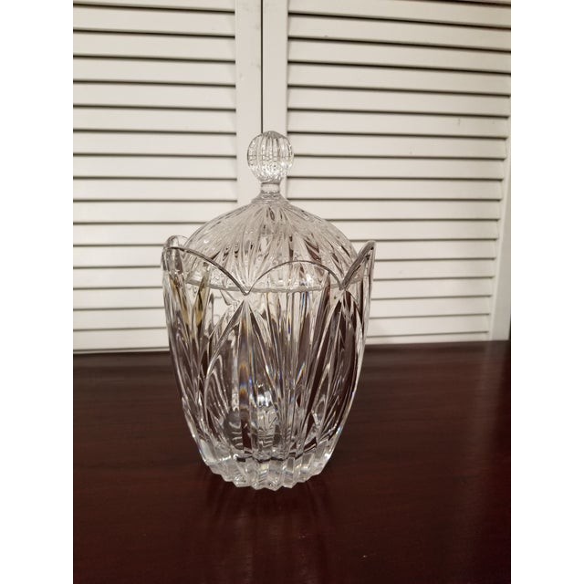 Crystal 1980s Traditional Crystal Biscuit Jar For Sale - Image 7 of 7
