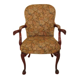 1990s Vintage Carved Mahogany Eagle Armchair