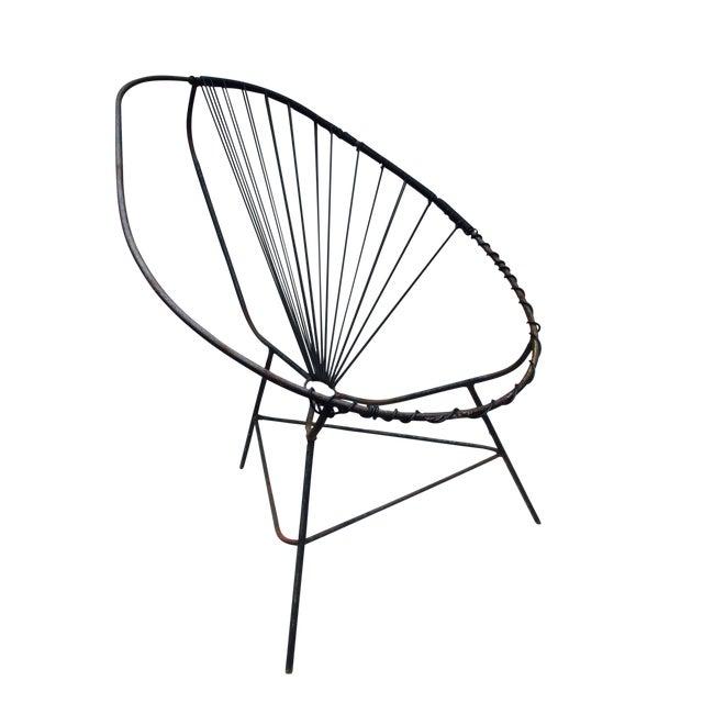 Mid-Century Modern Iron Acapulco Chair - Image 1 of 5