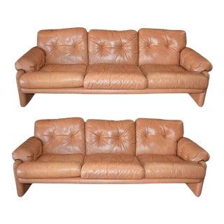 20th Century Tobia Scarpa Coronado Sofa by B&b Italia - a Pair For Sale