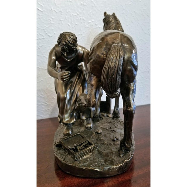 """Irish """"Horse and Farrier"""" Sculpture by Genesis For Sale - Image 4 of 10"""