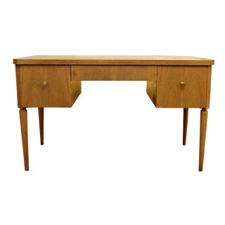 1950s Mid Century Modern Paul Frankl Johnson Furniture Emissary Birch Desk For Sale