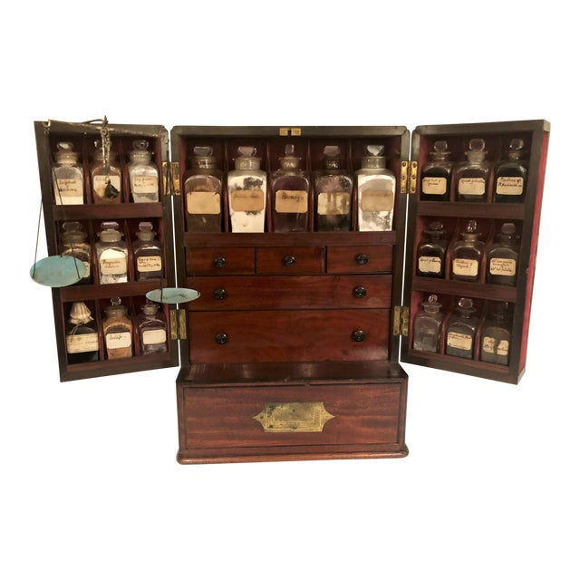 Antique English Apothecary Chest, Circa 1880. For Sale