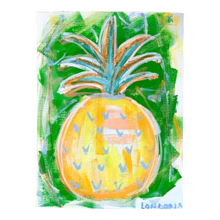 """Pineapple #11"" Abstract Painting by Christina Longoria For Sale"