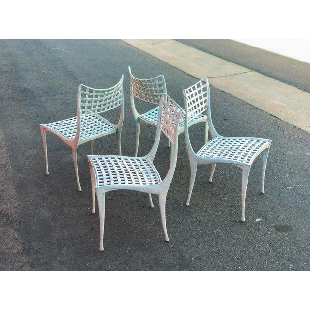 Mid-Century Modern Dan Johnson Brown Jordan Sol Y Luna Patio Chairs - Set of 4 For Sale - Image 3 of 12