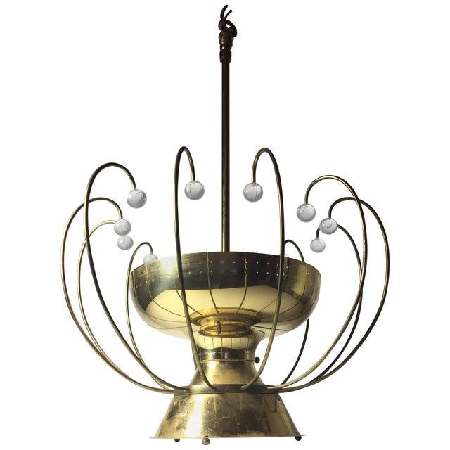 Lightolier Chandelier Ceiling Fixture Lamp For Sale - Image 10 of 10