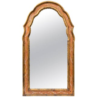 Italian Gilt and Faux Marble Wall Mirror For Sale