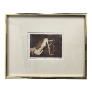 """Nude #3"" Framed Etching by Tim Armour For Sale"