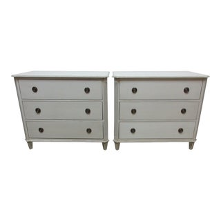 2 Gustavian Style Chest of Drawers For Sale