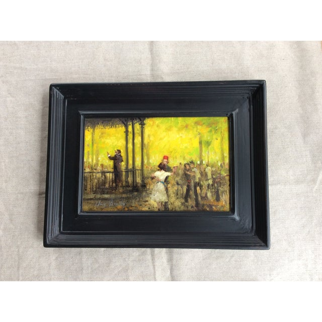 French Impressionist Style Oil Painting & Drawing - A Pair For Sale - Image 5 of 9