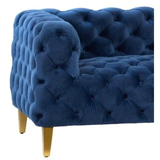 Royal Blue Tufted Sofa Preview