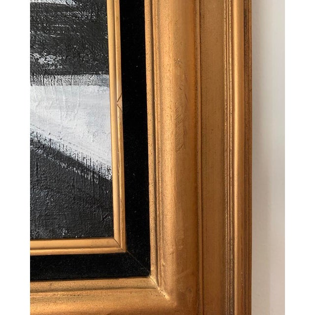 Abstract Black and White Franz Kline-Inspired Framed Painting For Sale - Image 3 of 5
