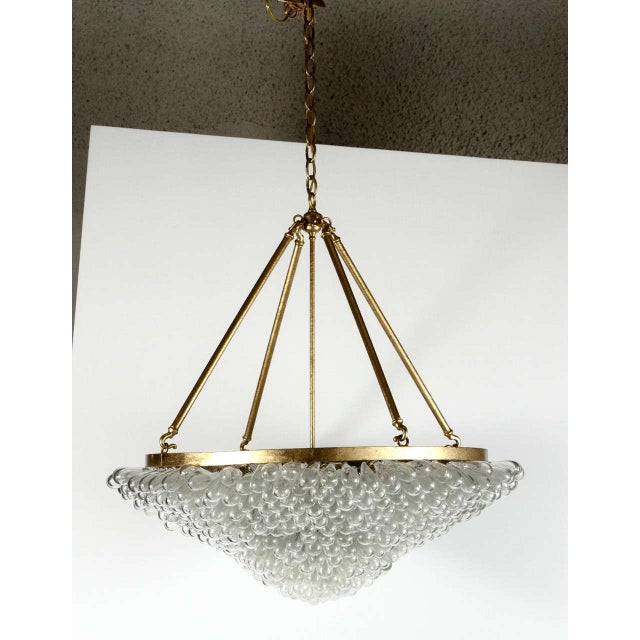 Large Blown Glass Beaded Chandelier - Image 2 of 9