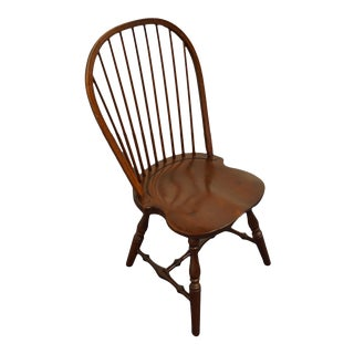 Tom Seely Furniture Solid Cherry Bow Back Windsor Chair For Sale