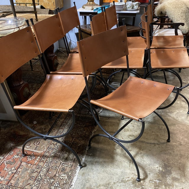 Charleston Forge Legacy Iron Dining Chairs -Set/8 For Sale - Image 10 of 11