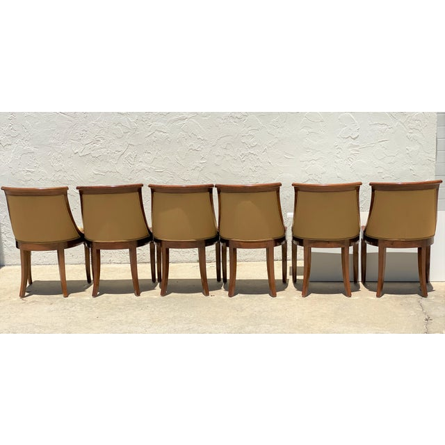Wood French Charles X Revival Dining Chairs - Set of 6 For Sale - Image 7 of 13