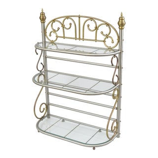 Vintage French Style Bakers Rack