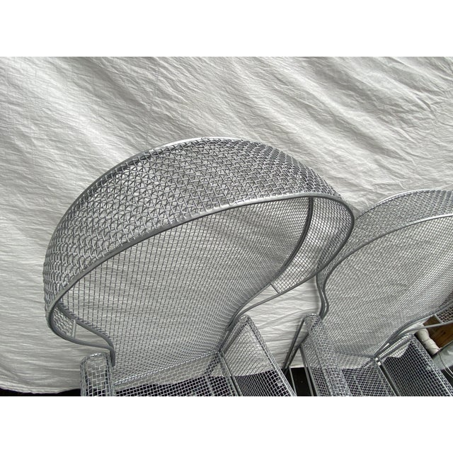 1960s Pair of High Back Outdoor Canopy Chairs by Russell Woodard For Sale - Image 5 of 12