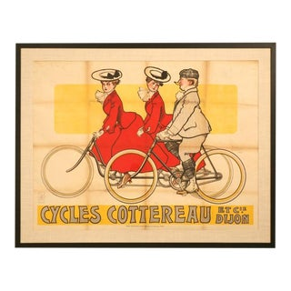 Bicycle Poster from Dijon, France circa 1905 by Rene Vincent For Sale