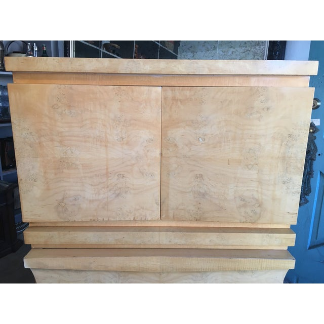Mid-Century Birds Eye Maple Highboy Dresser For Sale In Los Angeles - Image 6 of 11