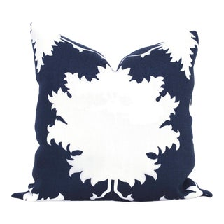 "20"" x 20"" Garden of Persia Blue Decorative Pillow Cover For Sale"