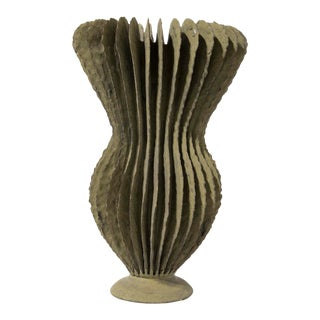 Sculpted Ceramic Vase by Ursula Morley-Price, Circa 2000 For Sale