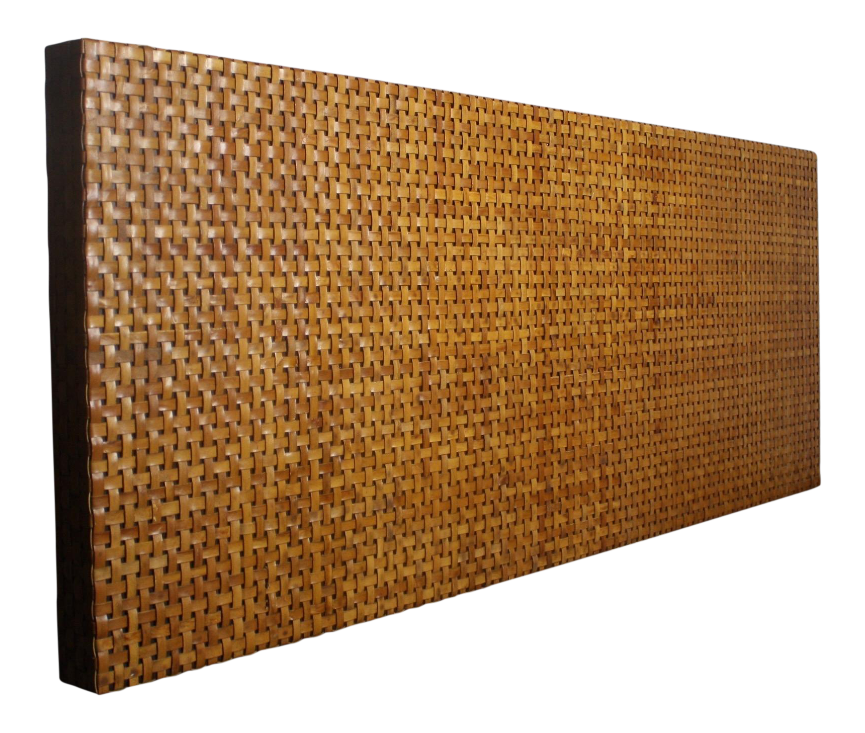 Woven Aged Leather Headboard