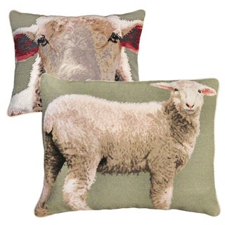 Baby Sheeps Wool Needlepoint Pillows - a Pair Preview